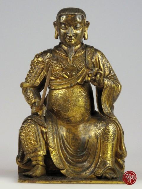 鎏金銅真武大帝坐像