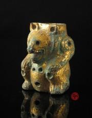 gilt bronze bear
