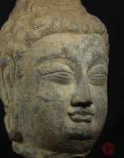 STONE HEAD OF BUDDHA (LONGMEN GROTTO STYLE)