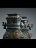 青銅交龍紋連蓋方壺